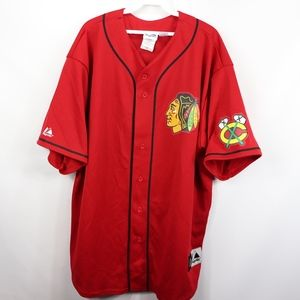 chicago blackhawks replica baseball jersey